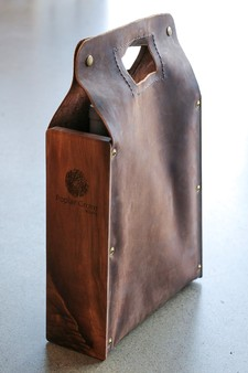 Leather Wine Tote Image